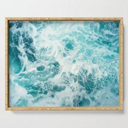 Ocean Sea Waves Serving Tray