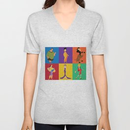 emperors new groove characters Unisex V-Neck