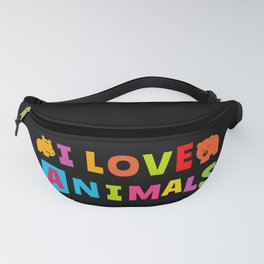 I Love Animals Fanny Pack