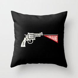 gun daaang Throw Pillow
