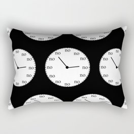 No Time Rectangular Pillow