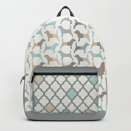 Beagle Silhouettes Pattern - Natural Colors Backpack