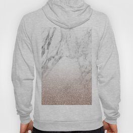 Marble sparkle rose gold Hoody