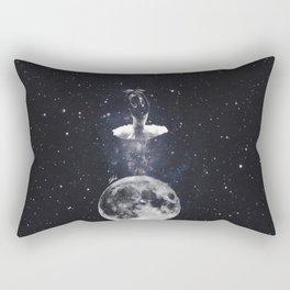 Ballerina on the moon. Rectangular Pillow