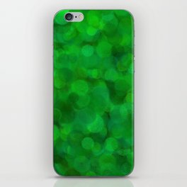 Fresh Bright Moss Green Abstract iPhone Skin