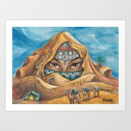 DESERT NYMPH Art Print