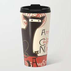 A French Ninja Cat (Le Chat Ninja) Metal Travel Mug