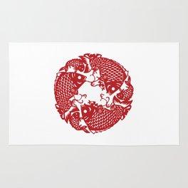 Chinese culture - Nian nian you yu. Rug