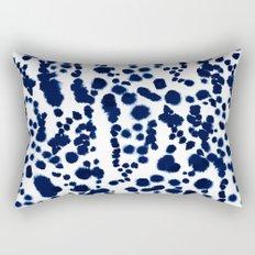 Navy Dalmatian Rectangular Pillow
