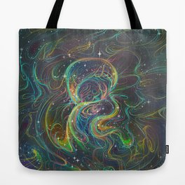 Magical Lisa Frank-esque Mushroom Tote Bag