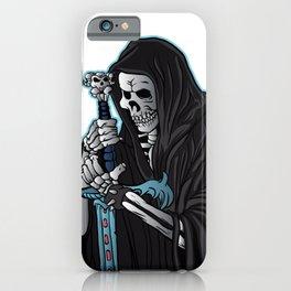 grim reaper with sword .grim reaper tattoo. iPhone Case