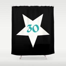30 in a star, 30th birthday, present idea 30 Shower Curtain