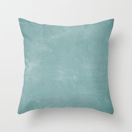White and Green Old School Green Board Throw Pillow