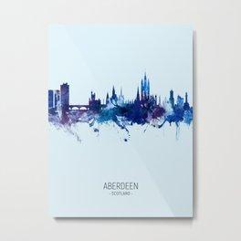 Aberdeen Scotland Skyline Metal Print