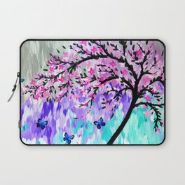 cherry blossom with Ulysses butterflies Laptop Sleeve