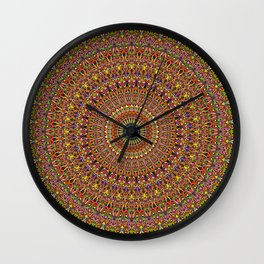 Magic Ornate Garden Mandala Wall Clock