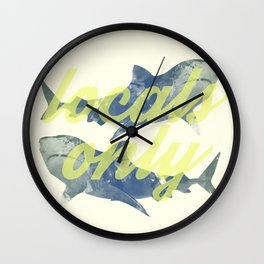 Locals Only Wall Clock