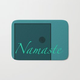 Namaste Blue Bath Mat