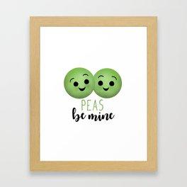 Peas Be Mine Framed Art Print