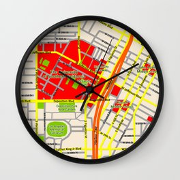 Map design of the University of southern California, LA Wall Clock