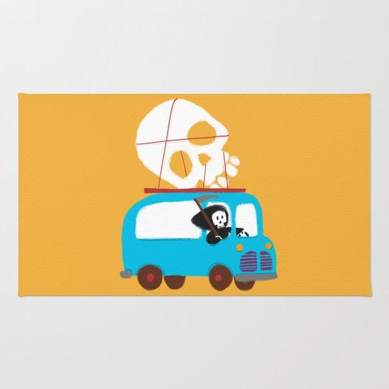 Death on wheels Rug