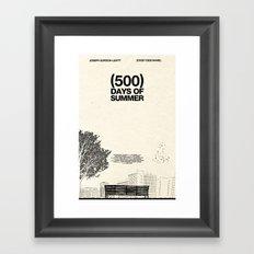 (500) Days of Summer Framed Art Print