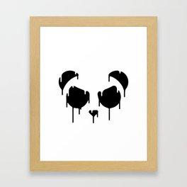 Melting Panda Framed Art Print