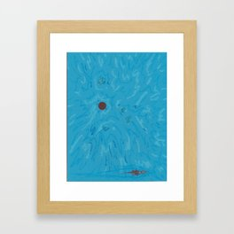 SpaceSunBlue Framed Art Print