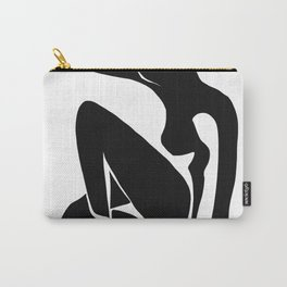 Matisse Cut Out Figure #1 Black Carry-All Pouch