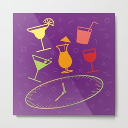 Happy Hour Cocktail Metal Print
