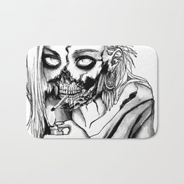 Smoking Zombie Bath Mat