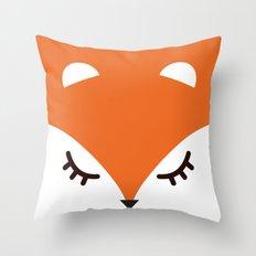 Fox minimal Throw Pillow