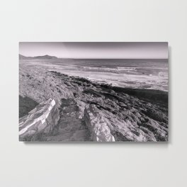 Steps down to Misty Beach near Cape Town, South Africa Metal Print