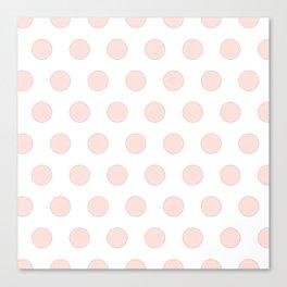 blush pink polka dots Canvas Print