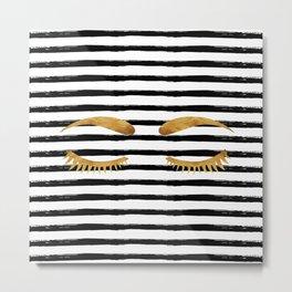 Eyes & Stripes Metal Print
