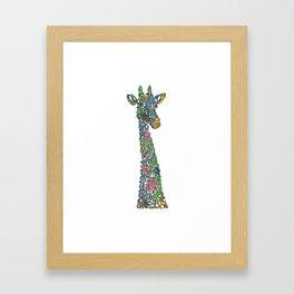 Colorful giraffe artwork Framed Art Print
