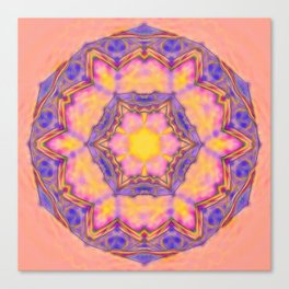 Delicate kaleidoscope in the colors of summer Canvas Print