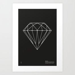 Di•a•mond Black Art Print