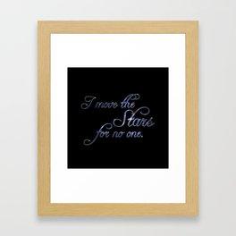 Move The Stars Framed Art Print