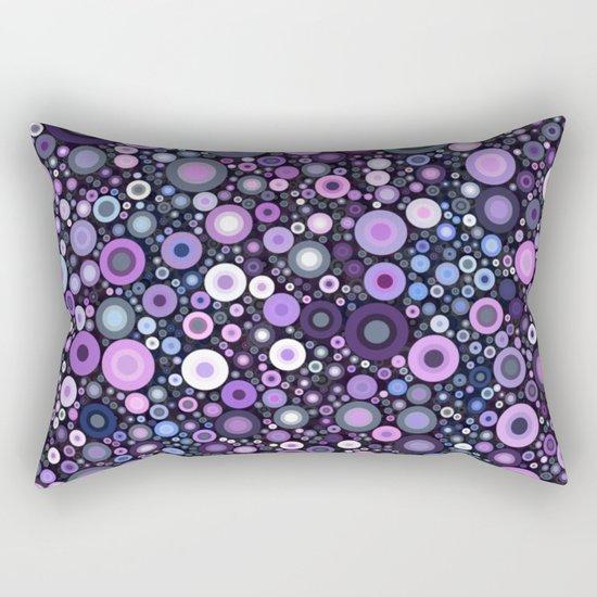Lavender Bubbles at Midnight Rectangular Pillow