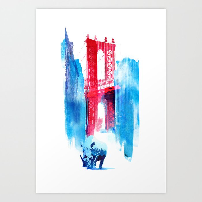 Discover the motif MANHATTAN BRIDGE by Robert Farkas as a print at TOPPOSTER