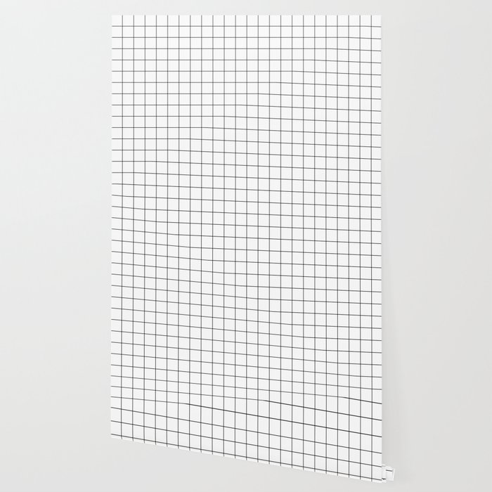 Grid Pattern Stripes Lines Black And White Minimalist Geometric Stripe Line Wallpaper By Beautifulhomes Society6