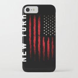New York American flag iPhone Case