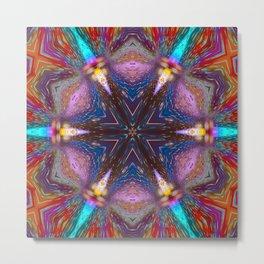 raindrops star mandala Metal Print