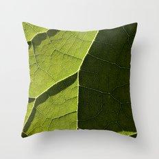 Leaf Veins I Throw Pillow