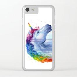 Magical Rainbow Unicorn Clear iPhone Case