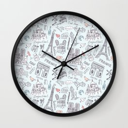 Bonjour Paris! Wall Clock