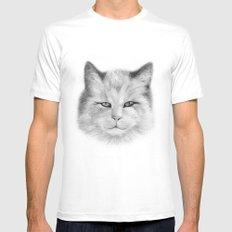 Cat Mens Fitted Tee White MEDIUM