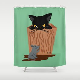 Hide-and-seek Shower Curtain