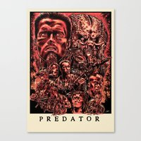 predator Canvas Prints featuring Predator by Daniel Hatcher